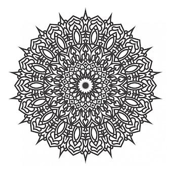 Desenhos de mandalas preto e branco
