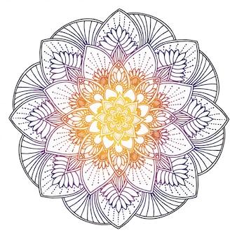 Desenhos de mandalas, terapia oriental