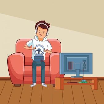 Desenhos de millennials e videogames em preto e branco