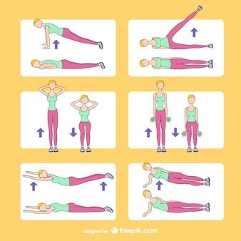 Desenhos de treinamento de fitness