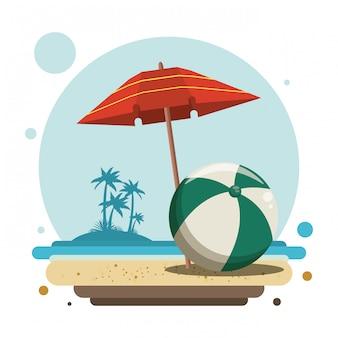 Desenhos de verão e praia