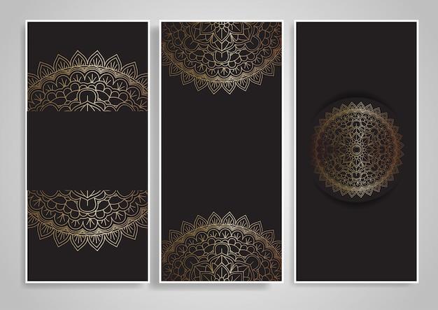Desenhos decorativos de mandala