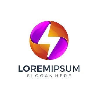 Desenhos geométricos de logotipo relâmpago
