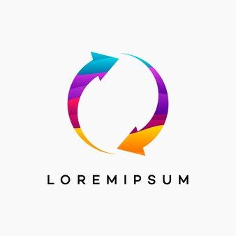Desenhos modernos de logotipo wavy simple sync