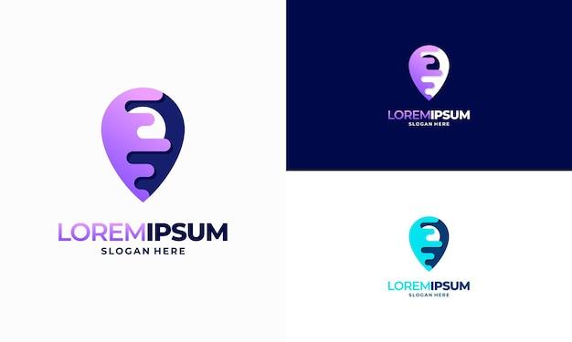 Desenhos modernos modelo de logotipo da point tech, ilustração vetorial de designs de modelo de logotipo da digital point technology