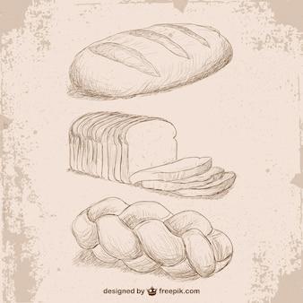 Desenhos pão estilo retro