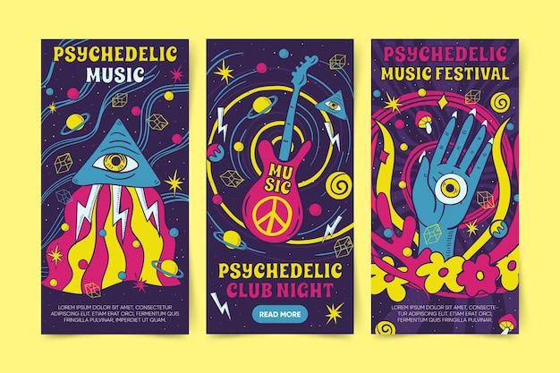 Desenhos psicodélicos de banners