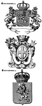 Desenhos vetoriais heráldica