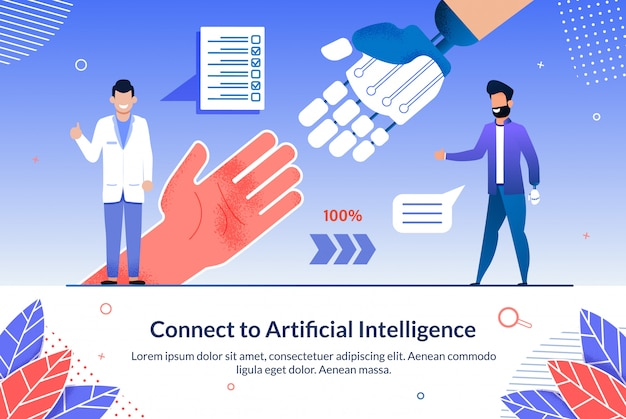 Desenvolvimento conecte-se à inteligência artificial.