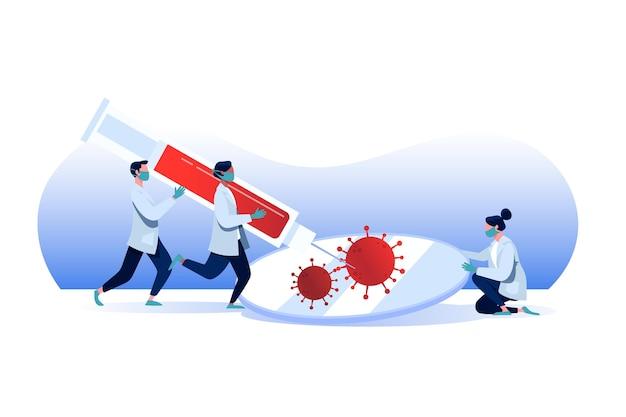 Desenvolvimento da vacina contra o coronavírus com médicos