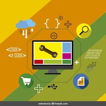 Desenvolvimento de aplicações infográfico