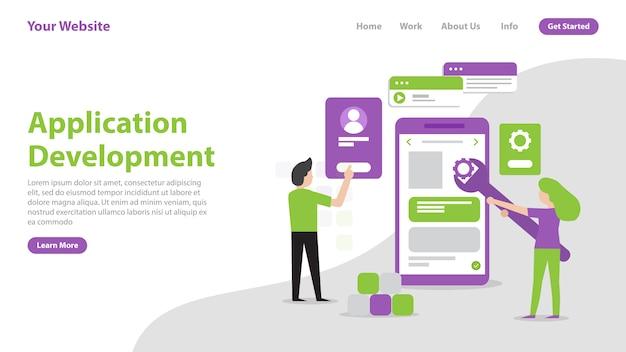 Desenvolvimento de aplicativo de página de destino