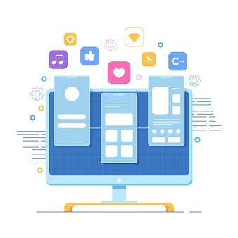 Desenvolvimento de aplicativos de mídia social e entretenimento