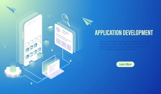 Desenvolvimento de aplicativos móveis e construção de software.