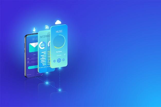 Desenvolvimento de aplicativos móveis e plataforma cruzada de design ux-ui