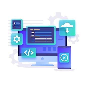 Desenvolvimento de aplicativos para desktop e smartphone