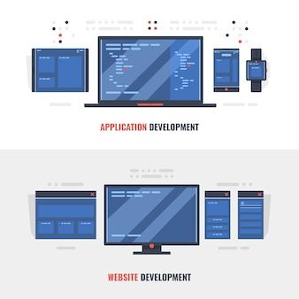Desenvolvimento de banner de conceito de site adaptável