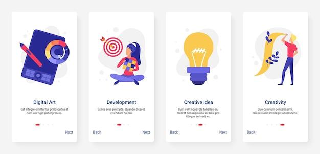 Desenvolvimento de ideias de negócios criativos