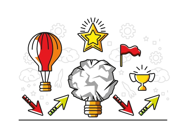 Desenvolvimento de meta de sucesso de grande ideia
