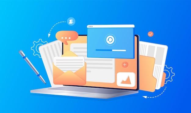 Desenvolvimento de página de web design de conceito voltar às aulas otimização de desenvolvimento de web