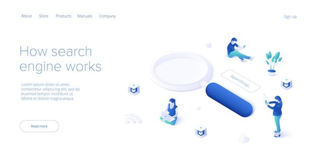 Desenvolvimento de seo. conceito de desenvolvimento de site ou página da web. motor de otimização de busca