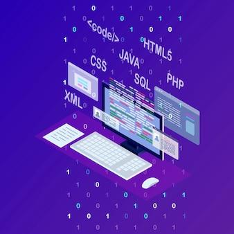 Desenvolvimento de site, página de destino de programação