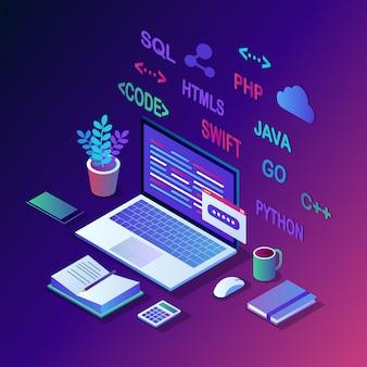 Desenvolvimento de software, linguagem de programação, codificação