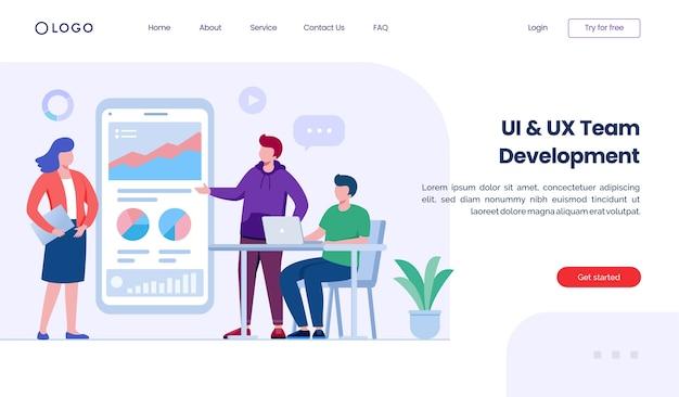 Desenvolvimento do site da página de destino
