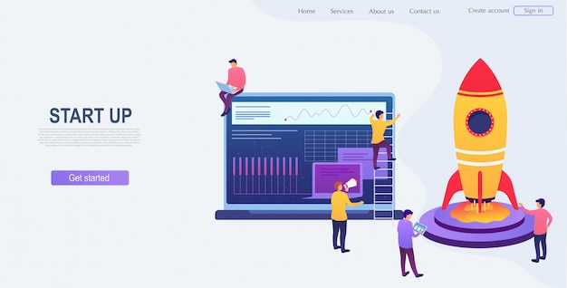 Desenvolvimento e start up de projeto de negócios. grupo de pessoas está pensando em uma nova idéia, iniciando uma empresa, crescimento de carreira para o sucesso. conceito de análise de empreendedorismo.