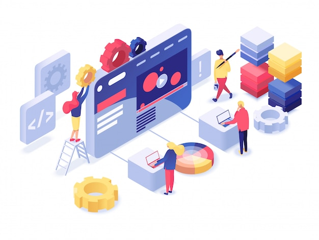 Desenvolvimento web isométrico