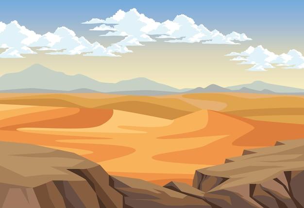 Deserto com abismo