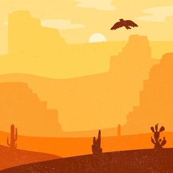 Deserto de oeste selvagem retrô