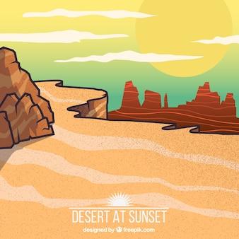 Deserto no por do sol
