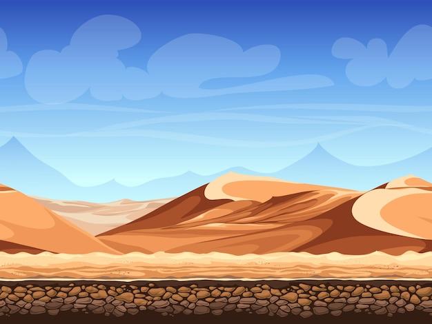 Deserto sem costura de ilustração vetorial