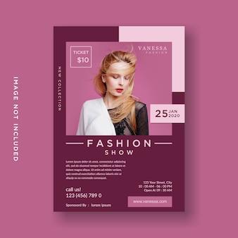 Desfile de moda de panfleto