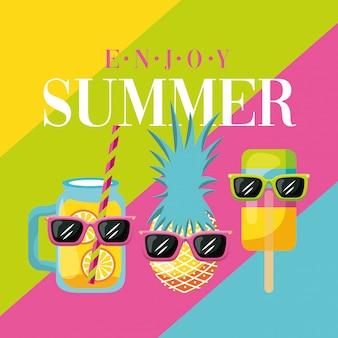 Desfrute de cartão de verão
