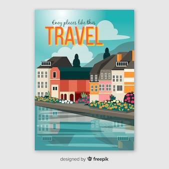 Desfrute de cartaz de viagens de lugares