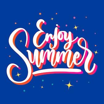 Desfrute de letras de verão