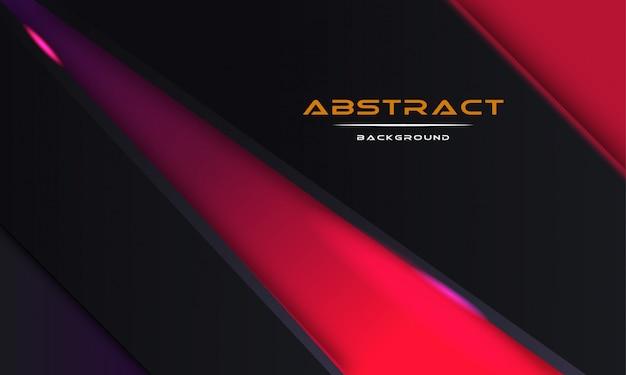 Design 3d abstrato com camadas de papel preto