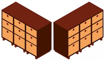 Design 3D para armários de madeira