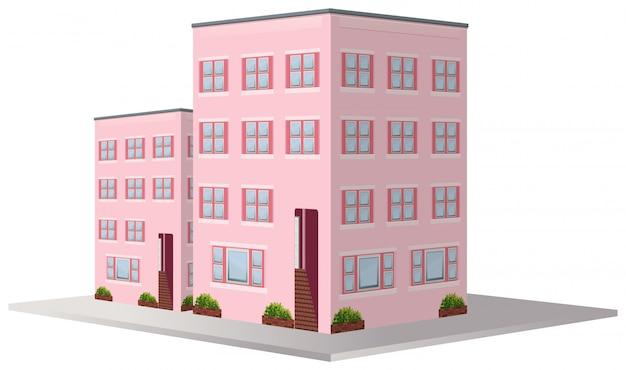 Design 3d para dois prédios de apartamentos