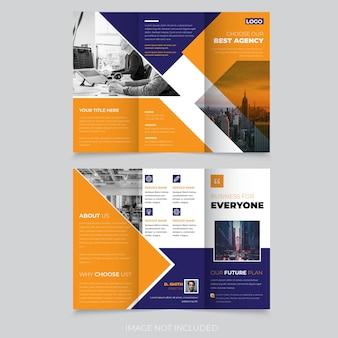 Design abstrato colorido de brochura com três dobras