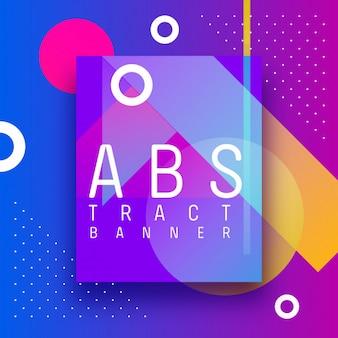 Design abstrato com formas e gradientes