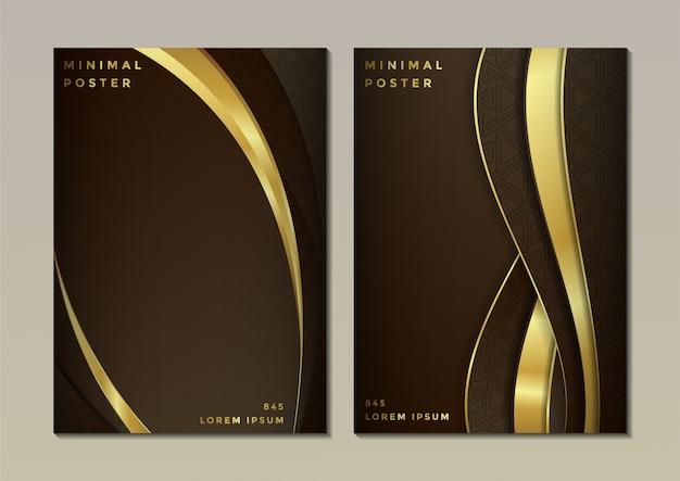Design abstrato da capa em cor escura