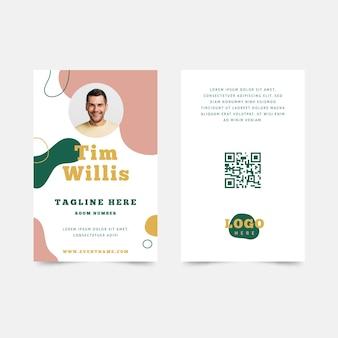 Design abstrato de cartão de identificação