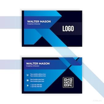 Design abstrato de cartão de visita