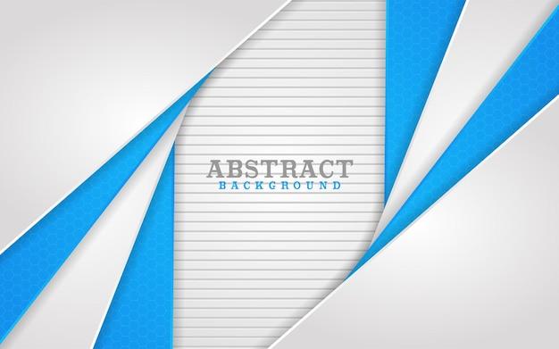 Design abstrato de combinação de linhas brancas e azuis