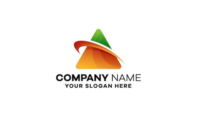 Design abstrato de logotipo empresarial