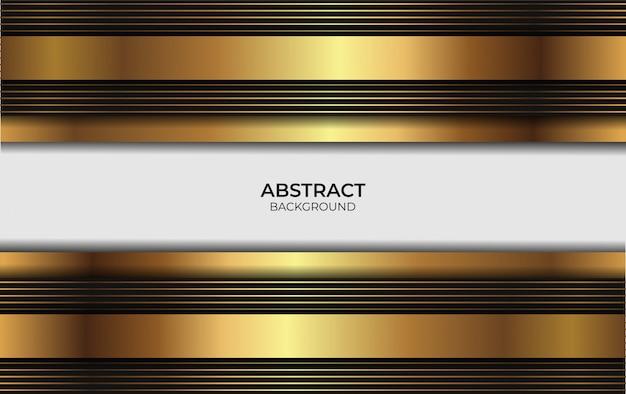Design abstrato de luxo ouro e preto