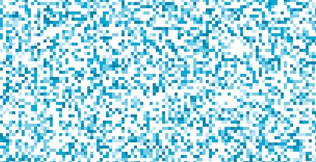 Design abstrato de pixels em azul e branco